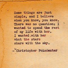 by | christopher poindexter. WOW. True love right there.