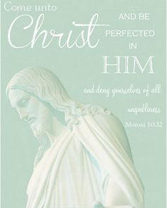 Come unto Christ and be perfected in him, and deny yourselves all ungodliness, 2014 Mutual theme.