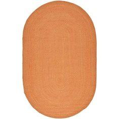 Safavieh Hand-woven Reversible Peach/ Yellow Braided Rug