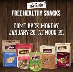 FREE HEALTHY SNACKS! - Back to Nature - Healthy Snack Giveaway | Facebook