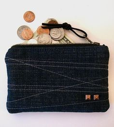 Denim Zipper Pouch | Keep your coins and cash from the darkest corners of your purs... | Handbags, Wallets & Cases