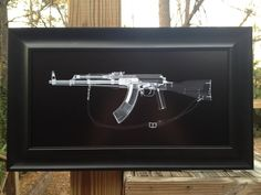 Hey, I found this really awesome Etsy listing at http://www.etsy.com/listing/117268739/ak-47-cat-scan-gun-print-ready-to-frame