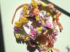 Oh Raccoon Flower crowns  Couronnes de fleurs estivales etsy créateur français Toulouse