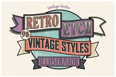 Retro Etch - Vintage Styles by The Artifex Forge on @creativemarket