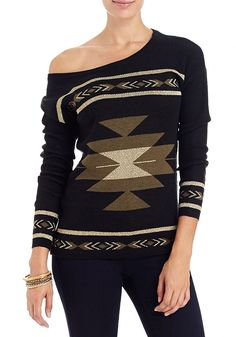 2b | Aztec Print Pullover Sweater - View All