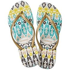 Havianas Flip Flops -- I have a navy blue pair from Argentina, but I do love this pattern. However, I'd buy it straight from Havianas.