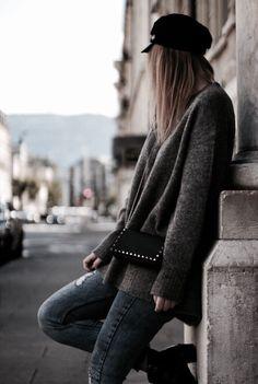 Fall outfit #ootd #fall #fashion #grey Blond, Photo Instagram, Fall Outfits, Winter Hats, Photos, Grey, Inspiration, Fall Fashion, Blogging