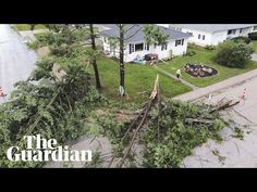 A damaging derecho or a 'wall of wind' sweeps through Iowa and Illinois causing widespread damage Weather Storm, U.s. States, Extreme Weather, Destruction, The Guardian, Iowa, Illinois, Chicago, Country Roads