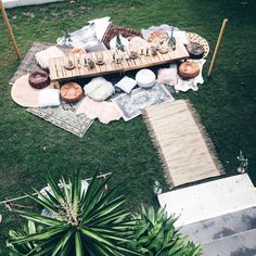 Beautiful bohemian backyard picnic styled by Harper Arrow