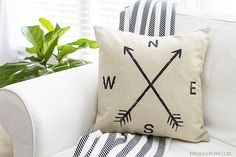 This Farmhouse Pillow Cover is quite the score! Perfectly imperfect and costs only $3.00. livelaughrowe.com