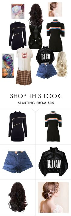 """""""Untitled #4944"""" by aurorazoejadefleurbiancasarah ❤ liked on Polyvore featuring Agent Provocateur, Bordelle, UNIF, Levi's Made & Crafted and Cotton Candy"""