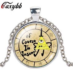 >> Click to Buy << Caxybb New Steampunk Drama Gravity Falls Mysteries BILL CIPHER Image Cabochon Crystal Pendant Choker Necklace Jewelry #Affiliate