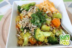 Vegetarische eiwitbom: groente-rijst schotel
