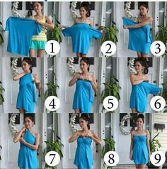 Make your own stylish dress out of an oversized t shirt or any large shirt without a collar. If the shirt is too large under the arms you can always use no sew tape and make a casing to pull a ribbon through to tighten as you like.  No sewing required.