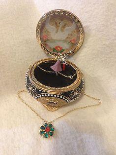 Nicholas & Alexandra Anastasia collar con caja de la baratija in Objetos de colección, Adornos de colección, Cajas musicales   eBay