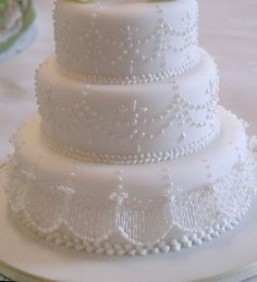 Miniature wedding cake @Squires Kitchen competition 1 by rosey sugar, via Flickr