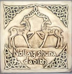 Items similar to Christmas Ceramic Celtic deer plaque. 'Nollaig Shona Duit' (Merry Christmas in irish) with holly celtic knot. on Etsy Irish Christmas, Merry Christmas, Gaelic Words, Celtic Knot, Deer, Ceramics, Etsy, Merry Little Christmas, Ceramica