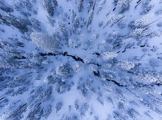 Flying above fresh snow on a winter day over the mountains was such a fun experience. No footprints, just untouched snow and the fun lens distorsion of the drone to provide a unique view of this beautiful area.