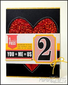 You + Me = Us Card by @Julie Campbell