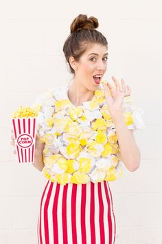 DIY Popcorn Costume - great fun as a kids or adult costume!