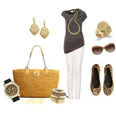 Tory Burch Bag and Shoes, created by pamela-barrett-williamson