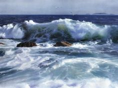 Watercolor tutorial seascapes   Seascape Painting by Yi Liu - Seascape Fine Art Prints and Posters for ...