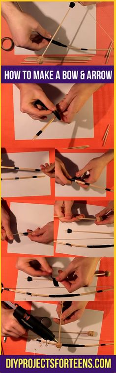 Cool DIY Crafts for Teens and Tweens | How To Make A Bow and Arrow | Mini DIY Bow and Arrow Tutorial and Video