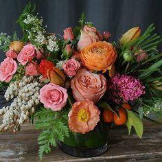 Fall color inspiration floral arrangement