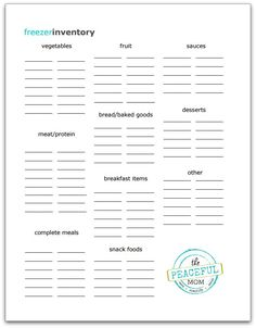 Best 25+ Freezer inventory printable ideas on Pinterest