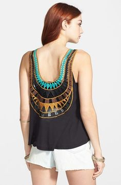 Lush Embroidered Back Tank $19.20 #HalfYearlySale #Nordstrom