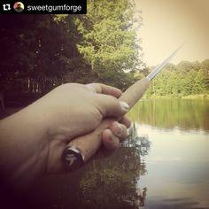 """InstaRepost: @sweetgumforge """"Fishing to #recharge.  Iwana is my go to rod."""" What's yours? #Tenkara #tenkaralife"""