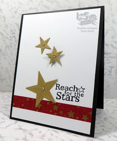Reach for the Stars! - Scrapbook.com - Perfectly simple graduation card has a big impact!