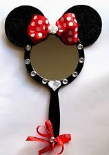 Disney Girls Teens Minnie Mouse hand Vanity Cosmetic Mirror bed/Bathroom Decor