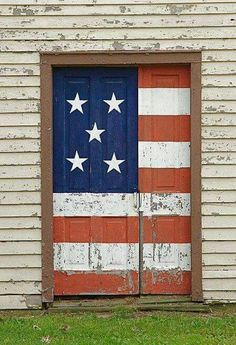 A patriotic door in the heartland of America.