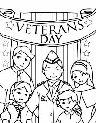 Printable Veteran's Day coloring page. Free PDF download