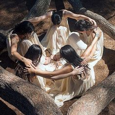 """""""We dream together, hand in hand Singing ancient tongue songs of Our fertile… Sacred Feminine, Feminine Energy, Mystique, Wise Women, Expo, Coven, Archetypes, Religion, Earth"""