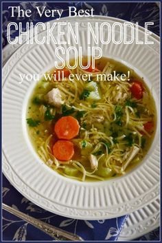 I know, it really sounds like I am boasting… sorry! But you too can make a chicken noodlesoup that is more delicious than you can imagine. There are a few old time secrets that can turn a good soup into one that makes the angels sing. And I can't wait …