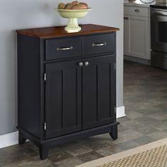Black Wood Buffet Cabinet Server Dining Room Furniture Storage Unit Sideboard #BlackWoodBuffetCabinet #Modern