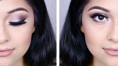 Silver Purple Smokey Eye | Makeup Tutorial - YouTube