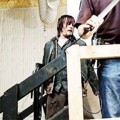 Behind the scenes The Walking Dead Daryl Dixon~Norman Reedus