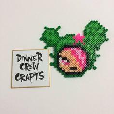 Tokidoki Style Sandy Perler by DinnercrewCrafts Easy Perler Bead Patterns, Perler Bead Templates, Diy Perler Beads, Perler Bead Art, Pearler Beads, Fuse Beads, Perler Coasters, Kawaii Cross Stitch, Diy Disney Ears