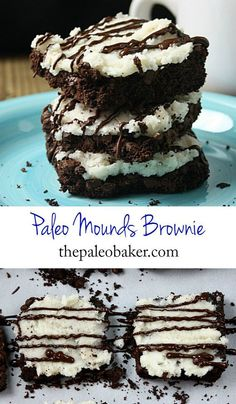 A classic brownie recipe with a coconutty twist, these Paleo Mounds Brownies will satisfy any sweet tooth. #brownies #paleo #coconut