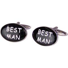 * Oval Cufflinks Best Man