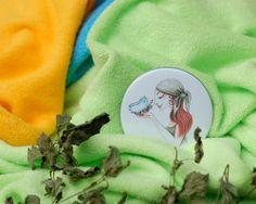 Bambusový ručník s BIO bavlnou  - zelený