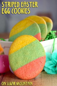 Striped Easter Egg Cookies