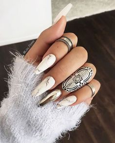 nails, rings, and girl image