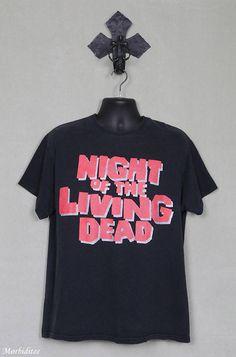 Night of the Living Dead, horror movie T-shirt, zombie cult film, George Romero, Fulci, monster movie