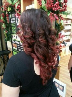 Red ombre fall hair so gorgeous!