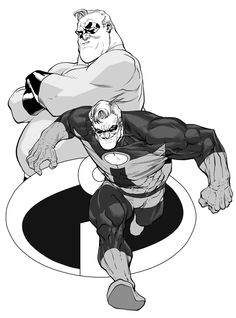 Bob Parr by RansomGetty.deviantart.com on @deviantART (http://ransomgetty.deviantart.com/art/Bob-Parr-413486503) ★    CHARACTER DESIGN REFERENCES   マンガの描き方 • Find more artworks at https://www.facebook.com/CharacterDesignReferences http://www.pinterest.com/characterdesigh and learn how to draw: #concept #art #animation #anime #comics    ★