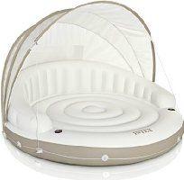 "Intex Canopy Island Inflatable Lounge, 78"" X 59"""